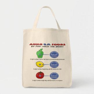 Avoid GM foods avoid 5 digit PLU starting with 8 Tote Bag