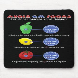 Avoid GM foods mousepads