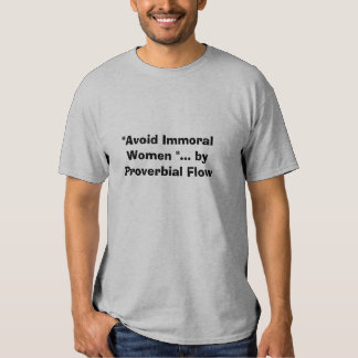 Avoid immoral Women T-shirts