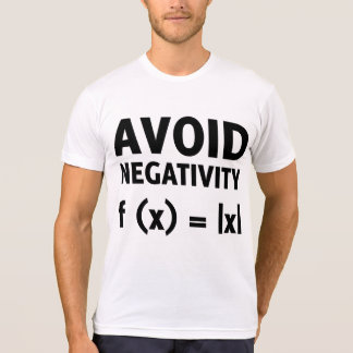 Avoid Negativity Funny Math Tee