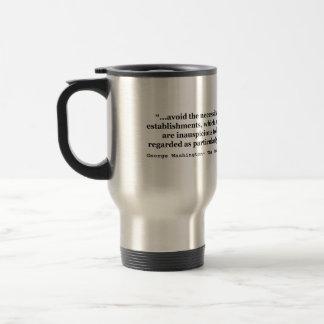 Avoid Overgrown Military Establishments Washington 15 Oz Stainless Steel Travel Mug