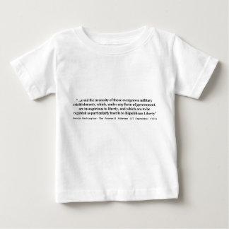 Avoid Overgrown Military Establishments Washington Baby T-Shirt