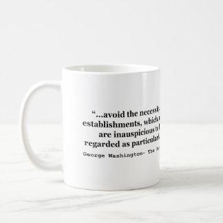 Avoid Overgrown Military Establishments Washington Classic White Coffee Mug