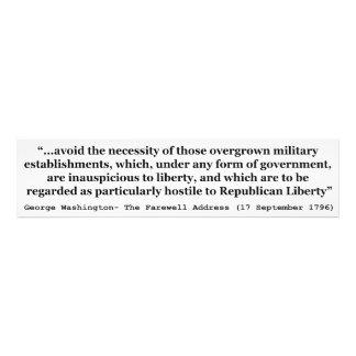 Avoid Overgrown Military Establishments Washington Photo Art