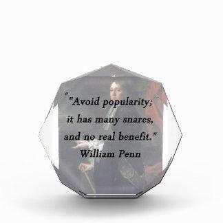 Avoid Popularity - William Penn Award