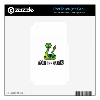 avoid the snakes decals for iPod touch 4G