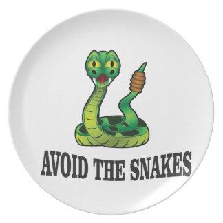avoid the snakes melamine plate