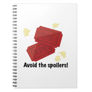 Avoid the Spoilers Spiral Notebooks