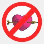 Avoid V-Day Round Stickers