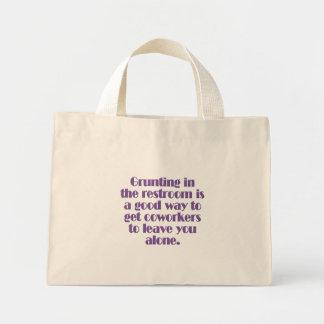 Avoiding Coworkers Mini Tote Bag
