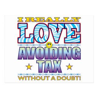 Avoiding Tax Love Face Postcard