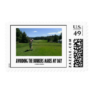 Avoiding The Bunkers Makes My Day (Golf Humor) Postage