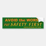 AvoidWorst-SafetyFirst Bumper Stickers