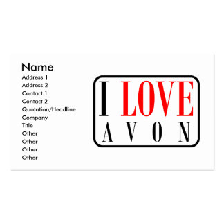 Avon, Alabama City Design Business Card Template