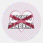 Avon, Alabama Pegatina Redonda