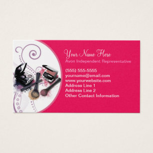 Avon business cards templates zazzle avon business card wajeb Images