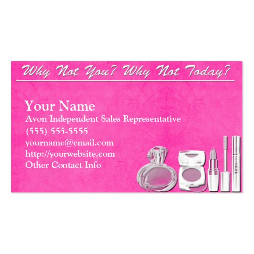 Avon business card business card templates bizcardstudio avon business card accmission Gallery