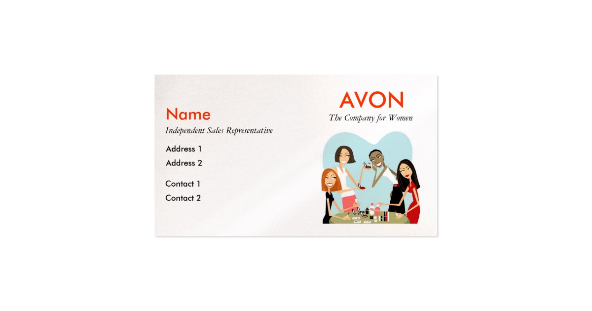 Avon Business Cards Pearl