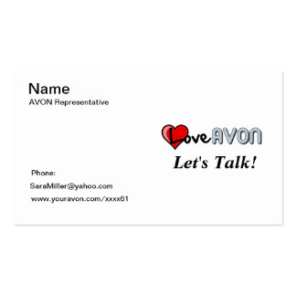 AVON Bussiness Card Business Card Templates