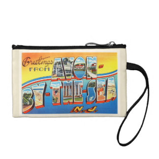 Avon by the Sea New Jersey NJ Vintage Postcard - Coin Wallet