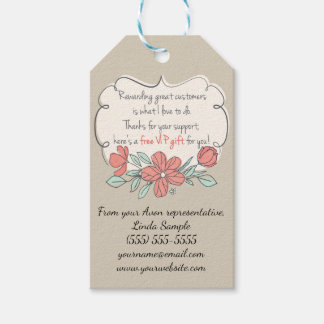 Avon Free Gift, Customer Thank You Gift Tags