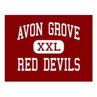Avon Grove - Red Devils - High - West Grove Postcard