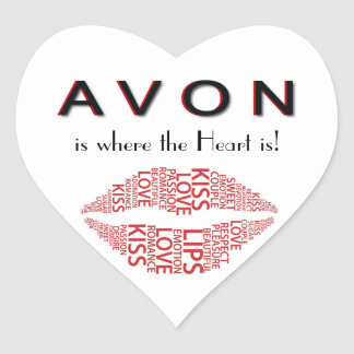 AVON Heart Sticker