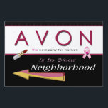 "Avon in the Neighborhood Yard Sign<br><div class=""desc"">Point the way to AVON. Remember to add your H frame for displaying in your yard for $1.95. This sign design is for the small sign. Please watch for future medium and large to become available.</div>"