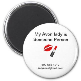 avon lady 3 2 inch round magnet