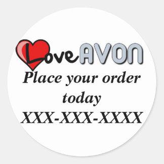 Avon Magnet Classic Round Sticker