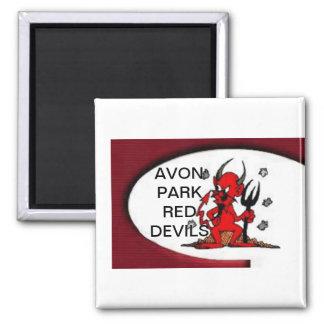 AVON PARK RED DEVILS 2 INCH SQUARE MAGNET
