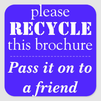 AVON - Please RECYCLE this brochure Stickers