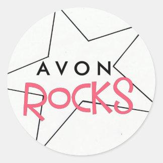 AVON Rocks Star Classic Round Sticker