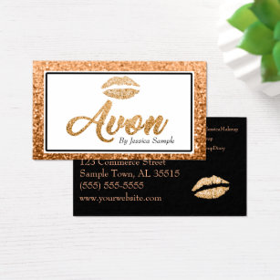 Avon business cards templates zazzle avon rose gold beauty lips business card wajeb Images