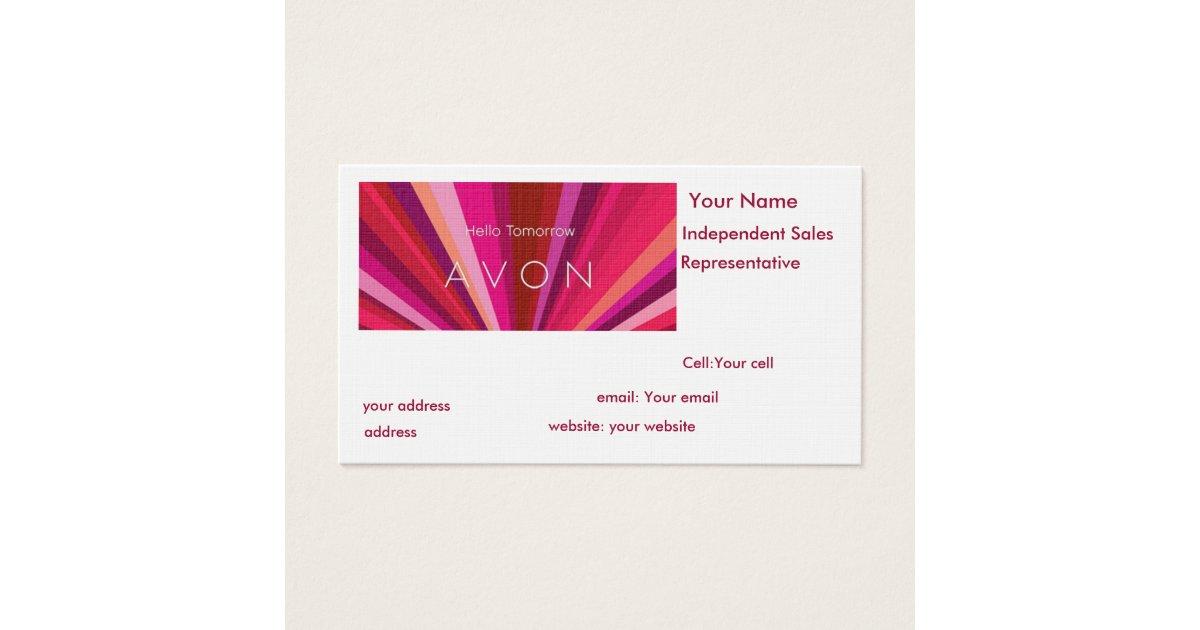 Avon Sales Representative Business Card