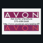 "Avon yard sign<br><div class=""desc"">Avon yard sign</div>"
