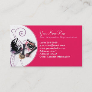Avon business cards zazzle avon business card colourmoves