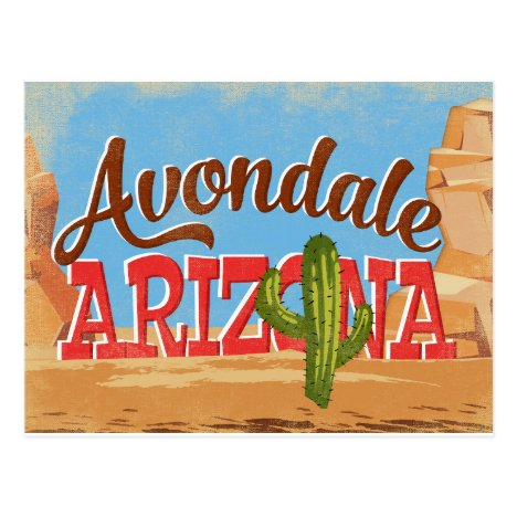 Avondale Arizona Vintage Travel Postcard