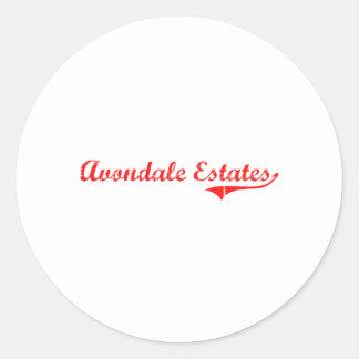 Avondale Estates Georgia Classic Design Sticker