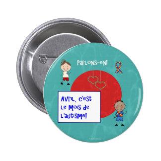Avril c'est le mois de l'autisme rond macaron pin
