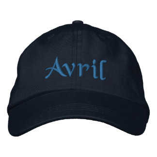 Avril Personalized Embroidered Baseball Cap Blue