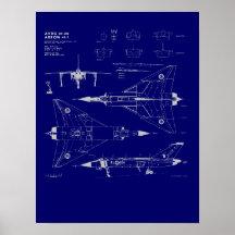 Avro Arrow Blueprint Poster