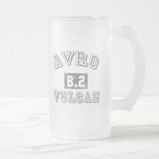 Avro B.2 Vulcan Frosted Glass Beer Mug