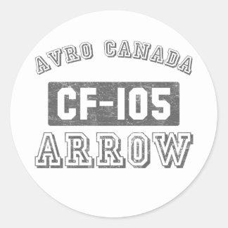 Avro Canada CF-105 Arrow Classic Round Sticker