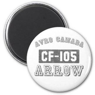 Avro Canada CF-105 Arrow 2 Inch Round Magnet