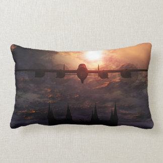 Avro Lancaster Bomber Over Lincoln Cathedral Throw Pillows