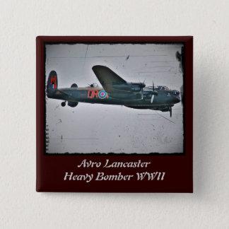Avro Lancaster Heavy Bomber Button