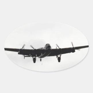 Avro Lancaster Heavy Bomber Oval Sticker