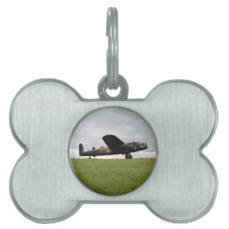 Avro Lancaster On The Field Pet Name Tag