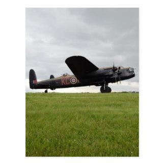 Avro Lancaster On The Field Postcard